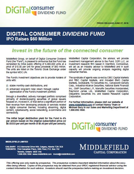 Digital Consumers Dividend Fund IPO