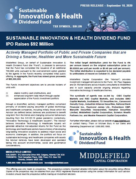 Sustainable Innovation Health Dividend Fund